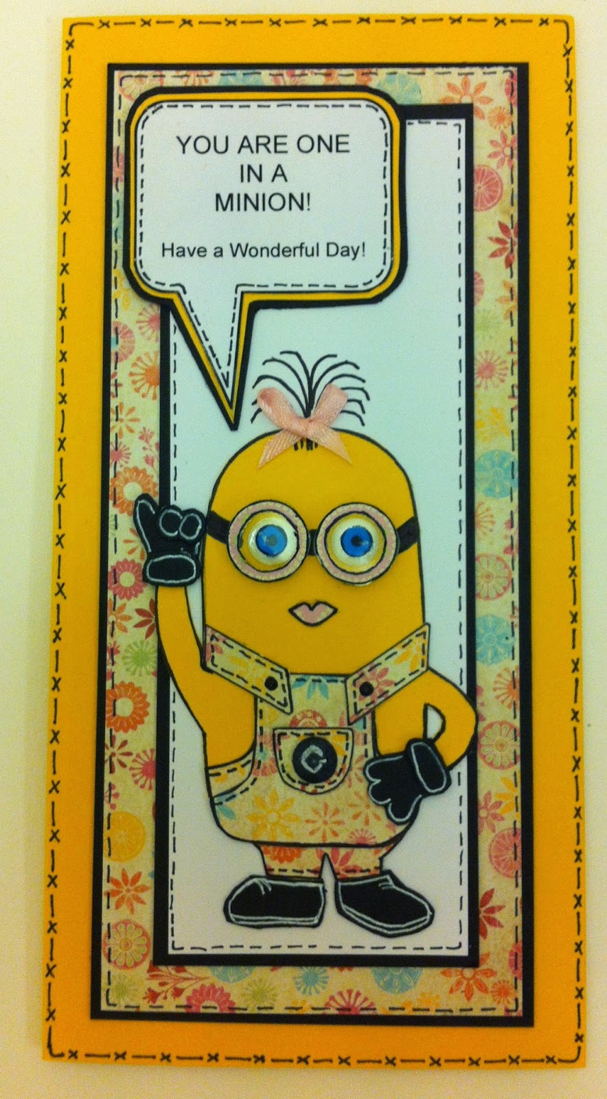 The Craft Project One In A Minion Card Tutorial With Free Template