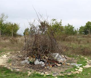 We made an impromptu bonfire