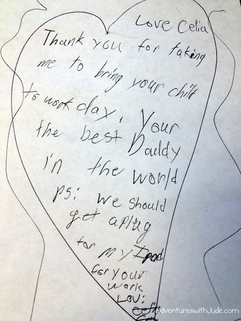 thank you note to Daddy