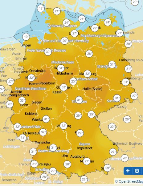 Temp. Germany