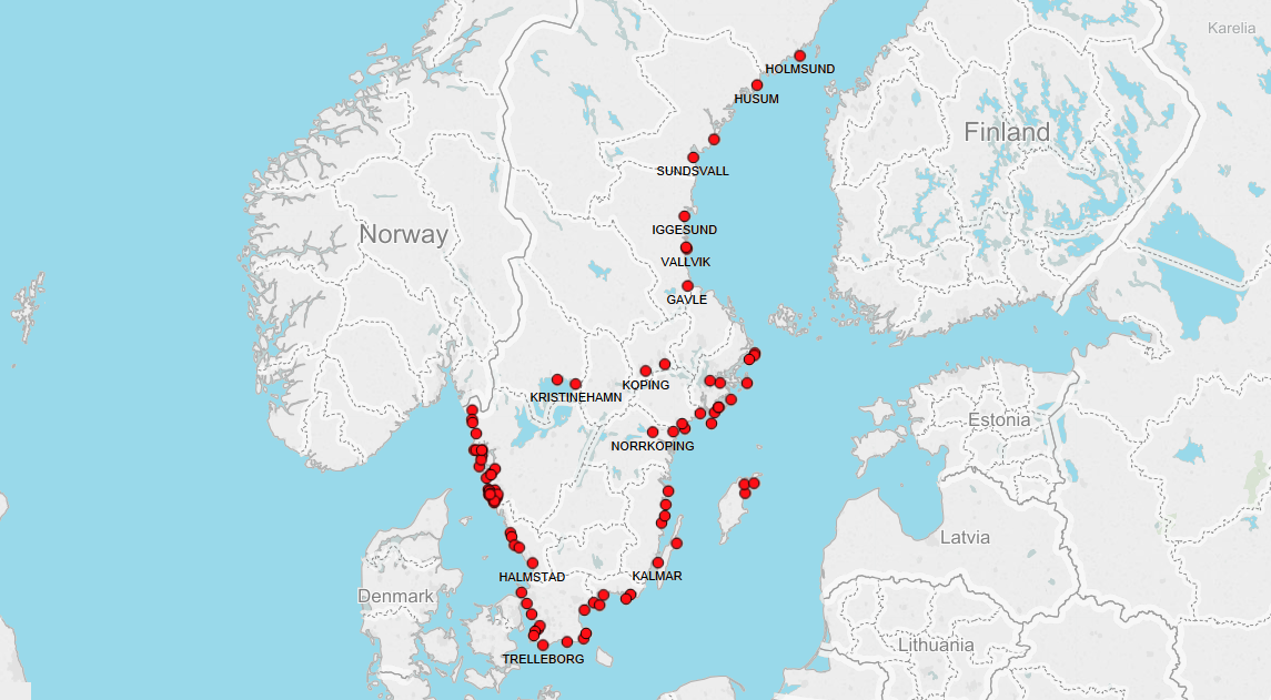 PORTS IN SWEDEN