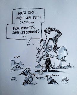 La crotte de pigeon ascensseur de cote politique... ©Guillaume Néel