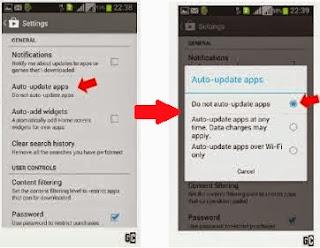 Cara Menonaktifkan/Disable Update Otomatis Aplikasi di Android