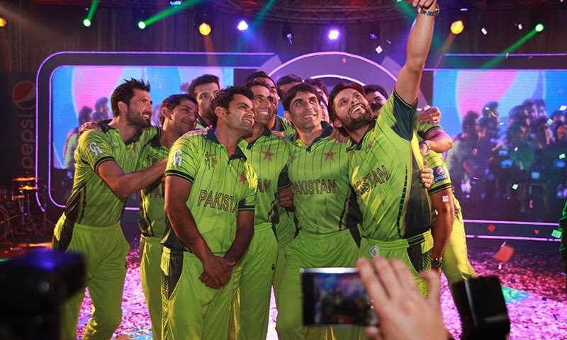 Pakistan cricket team kit for world cup 2015