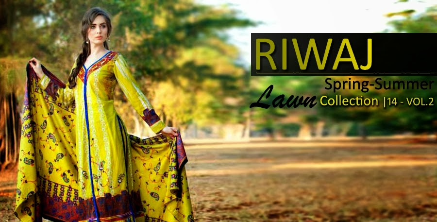 Riwaj Lawn Suits Collection 2014