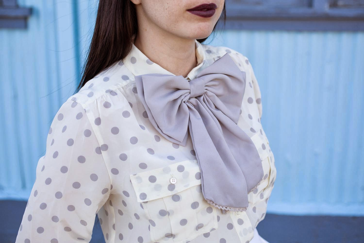 bowtie and polka dots