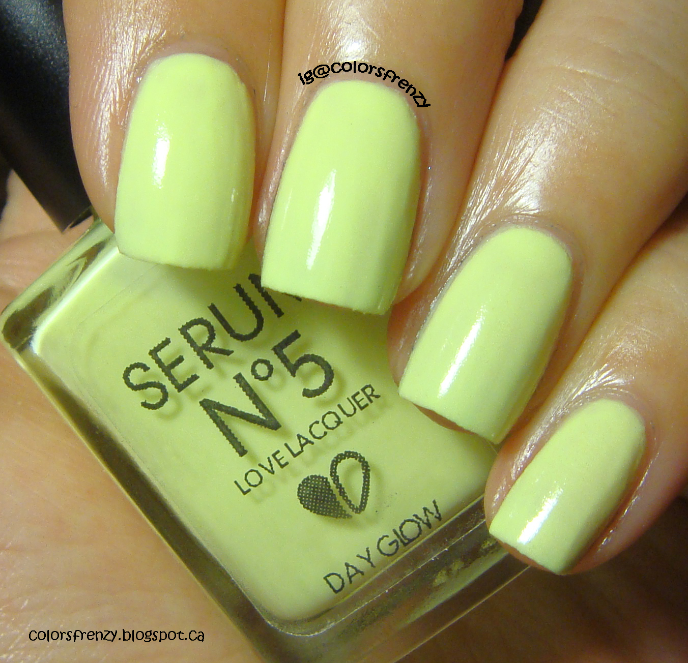 Colors Frenzy: Serum No.5 Day Glow And Cute Devil Stamp