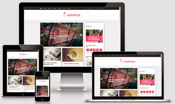 Vanice Magazine Blogger Template