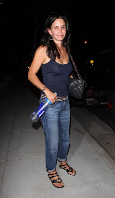 Courteney Cox' see through shirt
