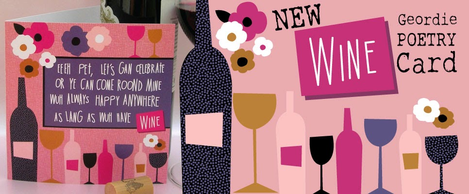 Geordie Poetry Cards Wine