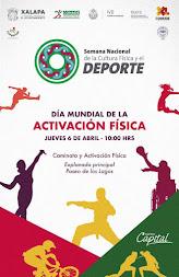Este jueves, Xalapa celebrará el día mundial de la activación física