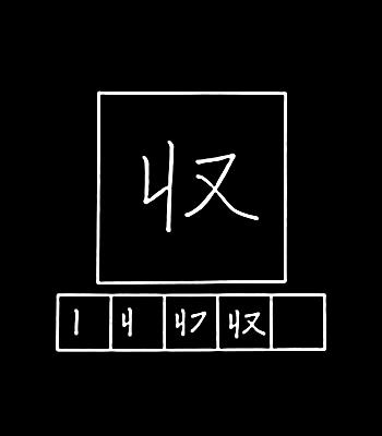 kanji menyerap