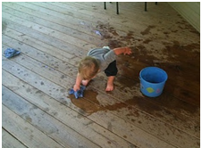 cleaning time for toddler