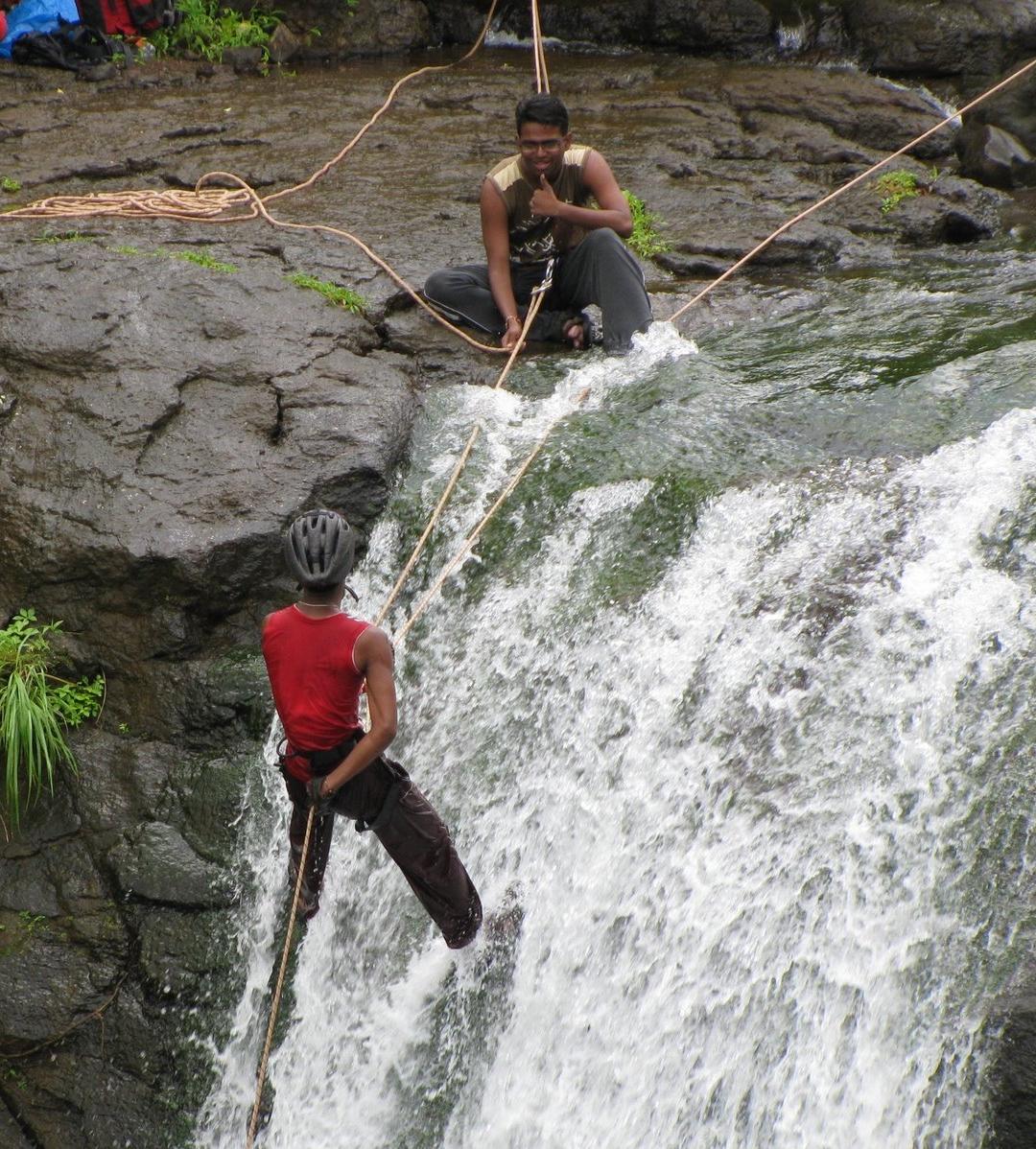 Karjat Resort Near Waterfall Waterfall Rappelling at Karjat