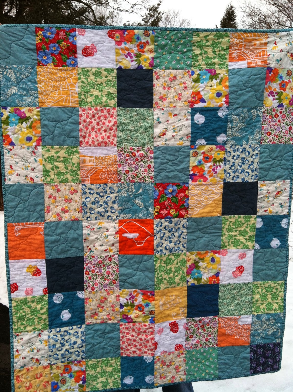 Simple Quilts Templates Quilt Kit : A Quilter by Night: another simple baby quilt with tenugui