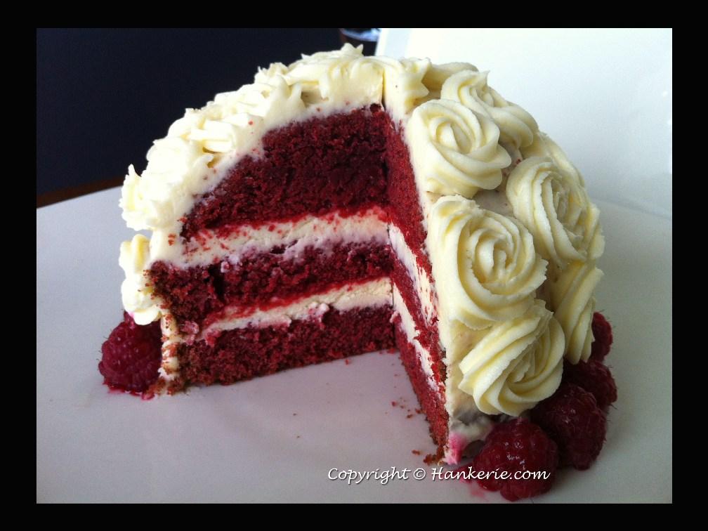 Flower Bouquet Red Velvet Cake ~ Hankerie