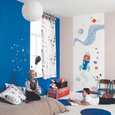 Muebles y decoraci n de interiores ideas de como decorar - Paredes pintadas para ninos ...