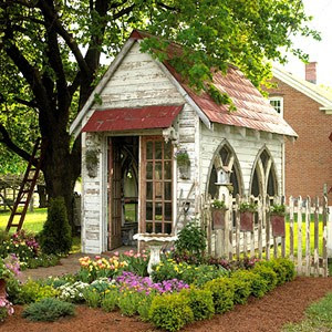 Not too shabby old garden sheds turned fabulous for Victorian garden shed designs