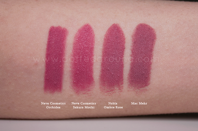 Nabla ombre rose swatch rossetto