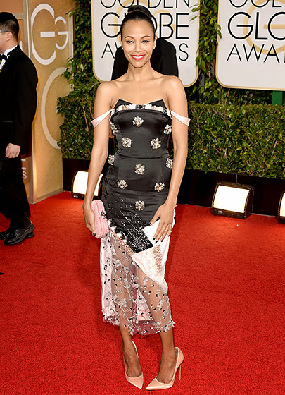 Zoe Saldana in Golden Globes 2014