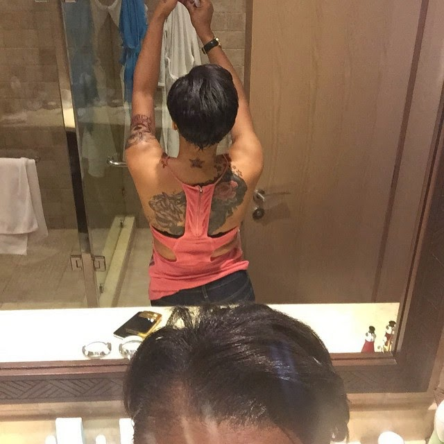 [Photos] Tonto Dikeh Bares All Her Tattoos To Her Fans