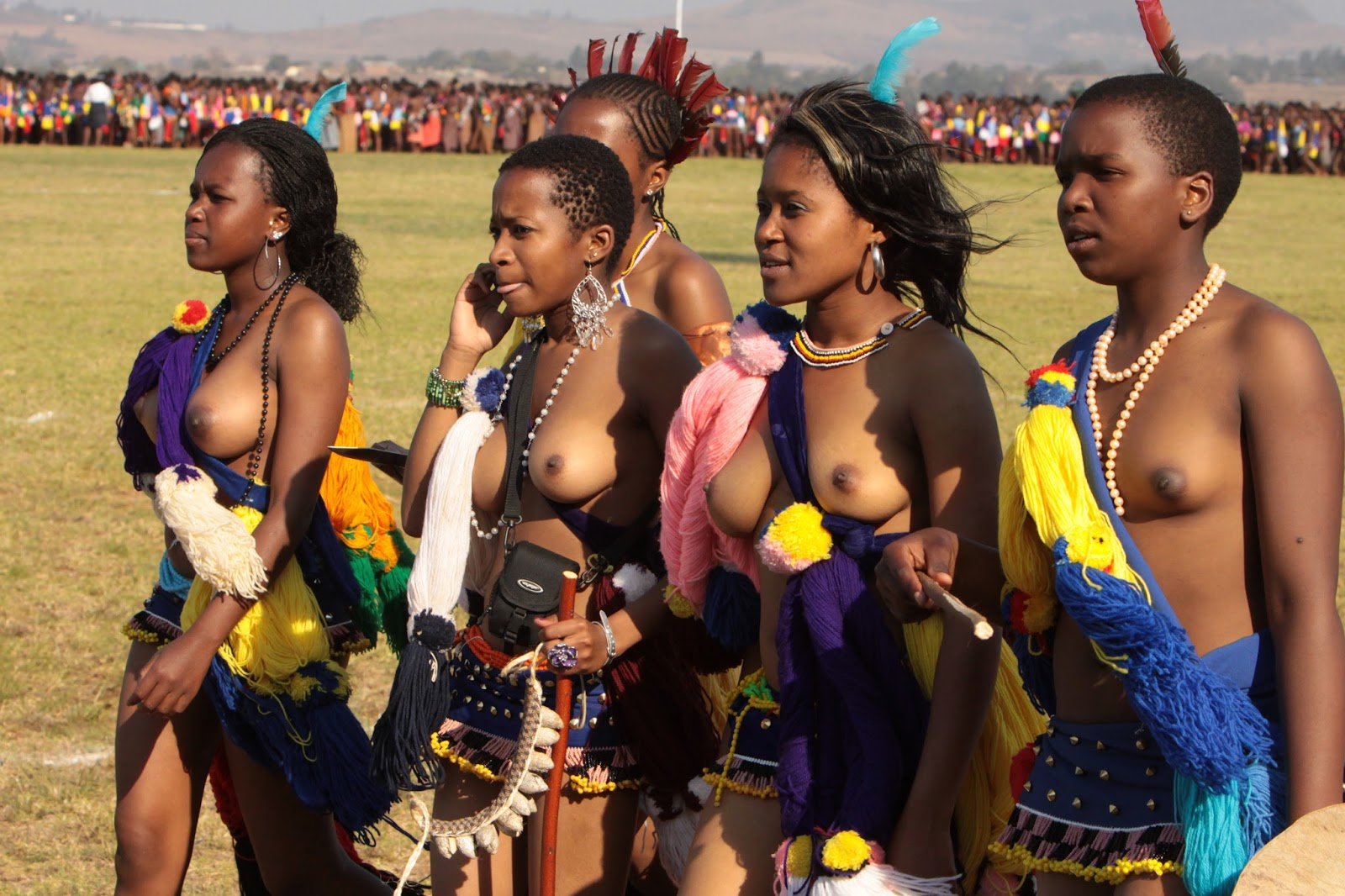 nude tribal African beautiful nude group traditional tribal girls