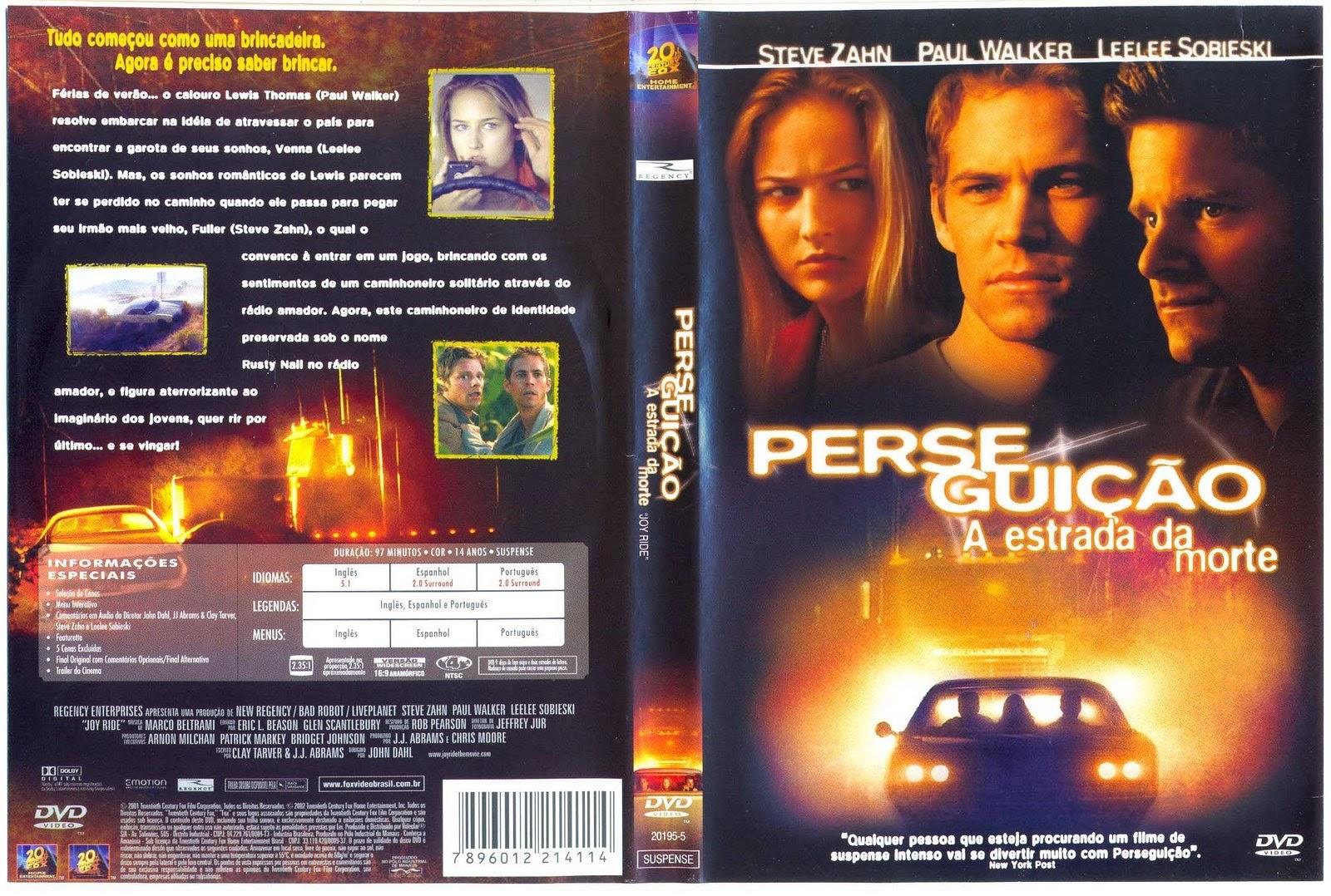 Filme Perseguição A Estrada Da Morte DVD Capa