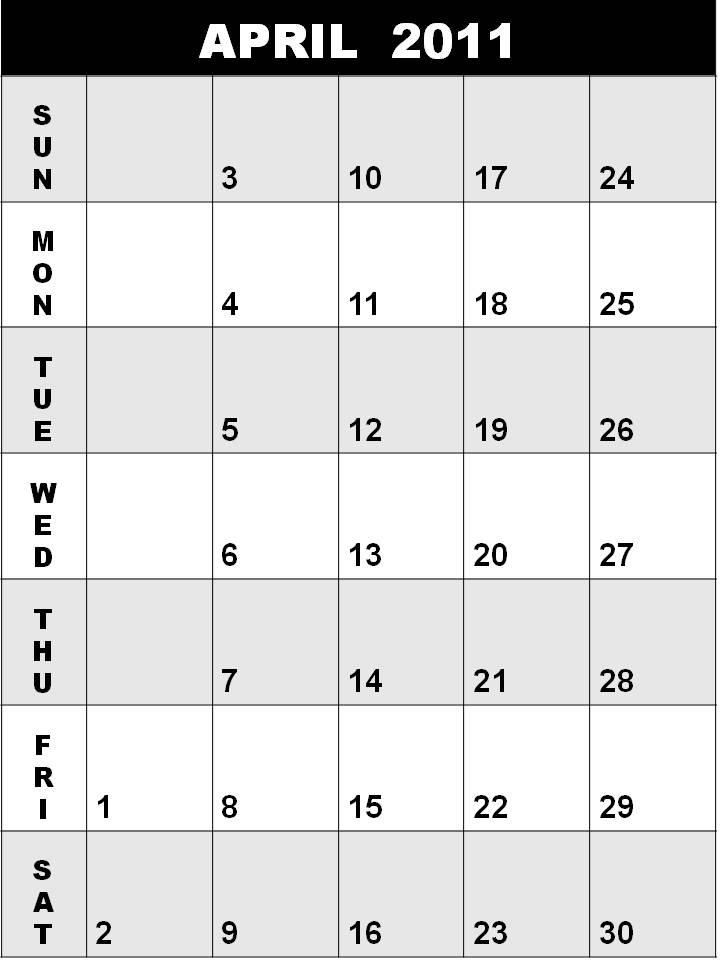 2011 calendar printable april. 2011 calendar printable april.