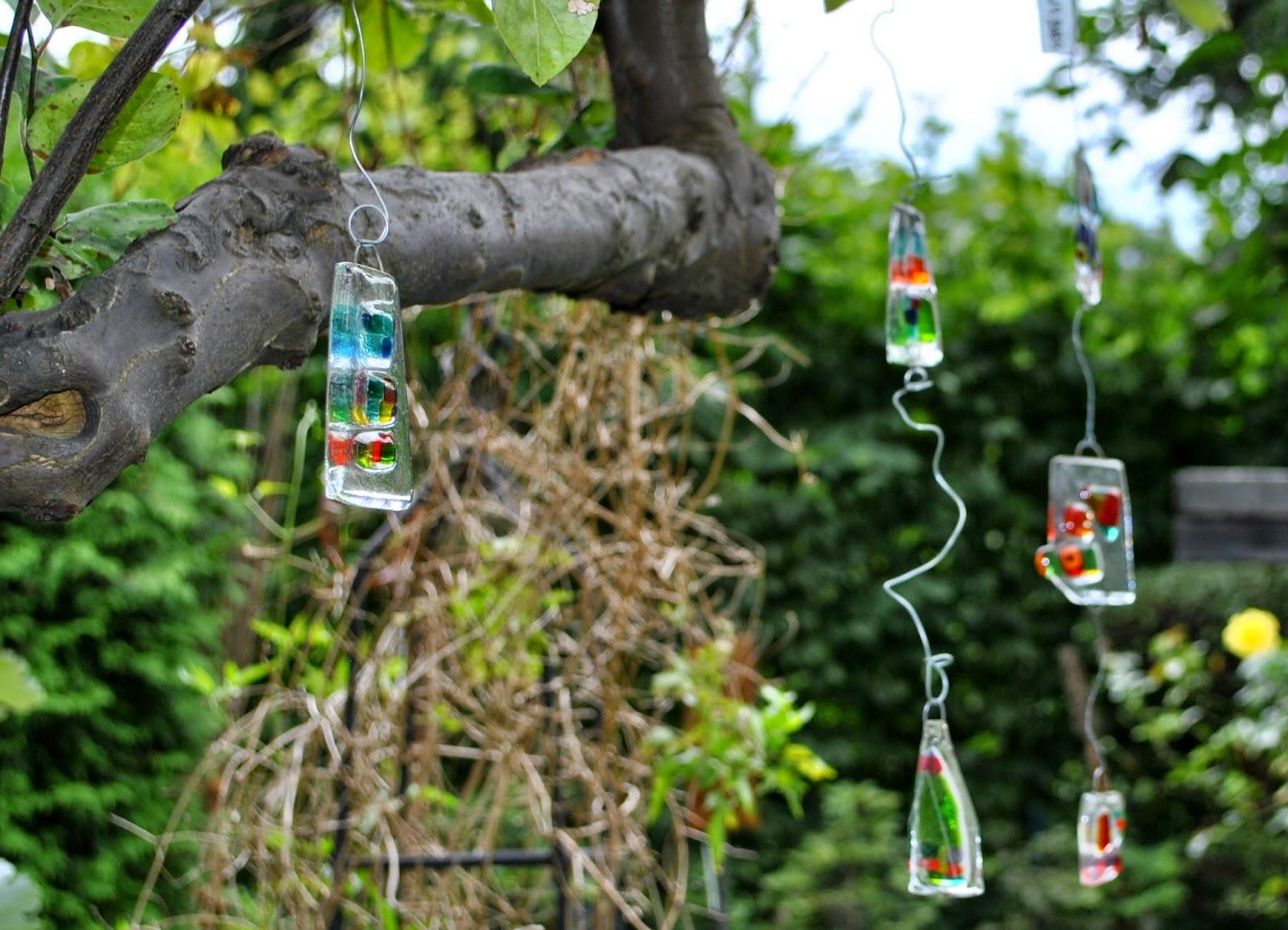 Glasdeko für den Garten