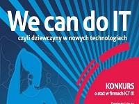 Plakat konkursu Dziewczyny w Nowych Technologiach