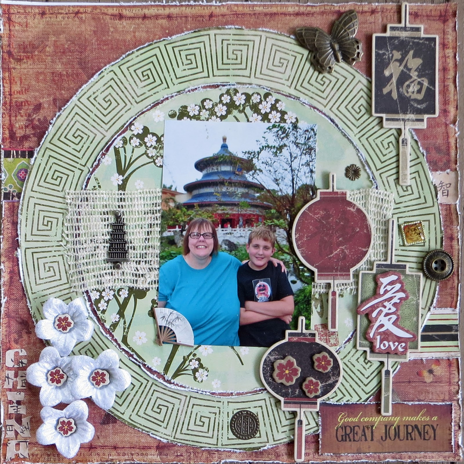 Scrapbook ideas china - Some New Layouts For Today