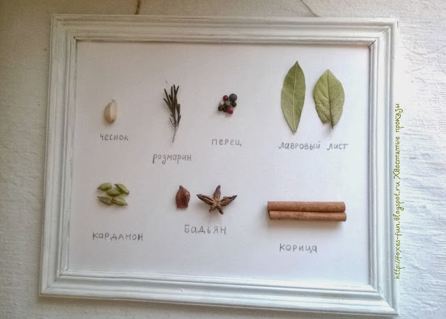 интерьерное, для кухни, картина со специями