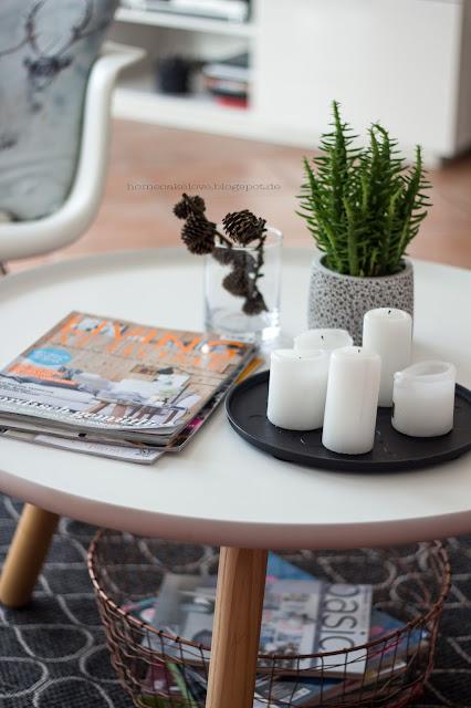 Tisch Normann Copenhagen, Kerzen, Zeitschrift, Living at home