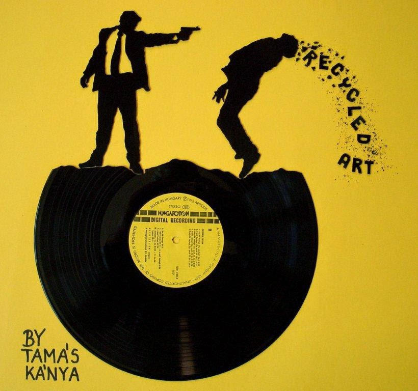 Simply Creative Vinyl Record Art By Tamas Kanya