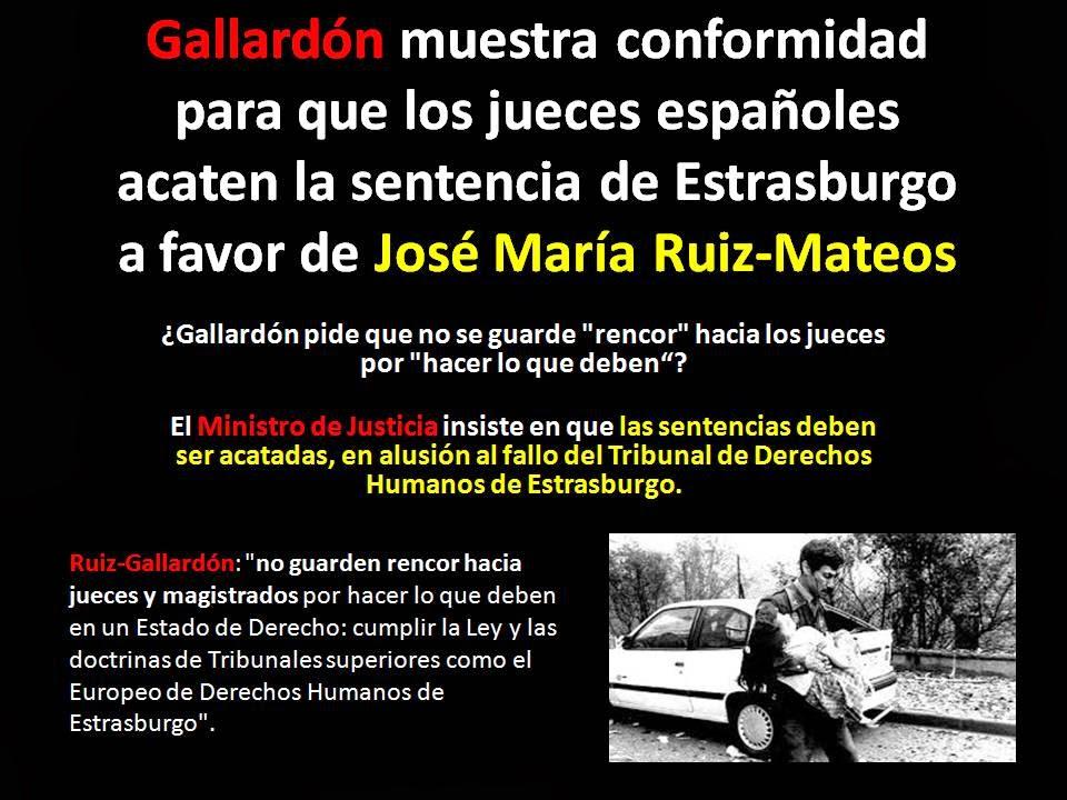 Gallardón exije Juicio Justo de Rumasa