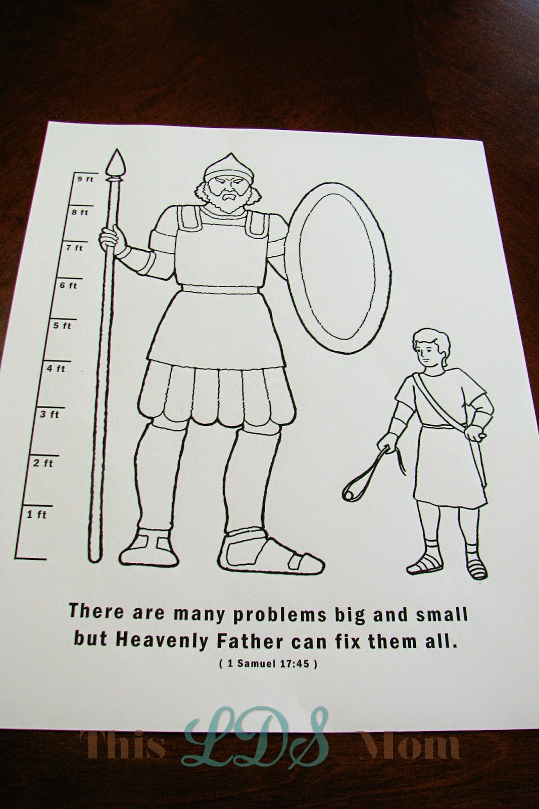 This lds mom july 2014 for David and goliath craft
