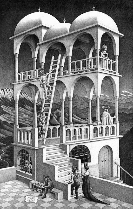 M. C. Escher: Belvedere