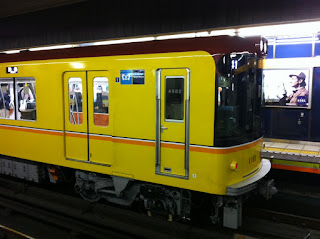 Ginza subway line goes retro