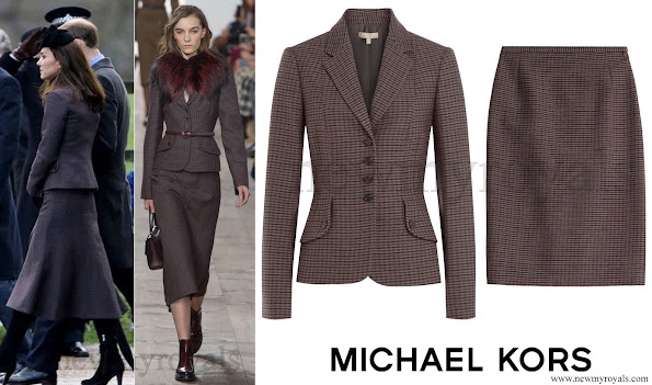 Kate Middleton wore Michael Kors Skirt Suit