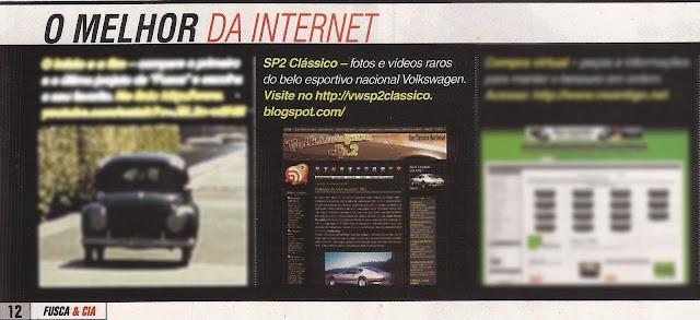 Volkswagen SP2 Clássico na revista Fusca & Cia