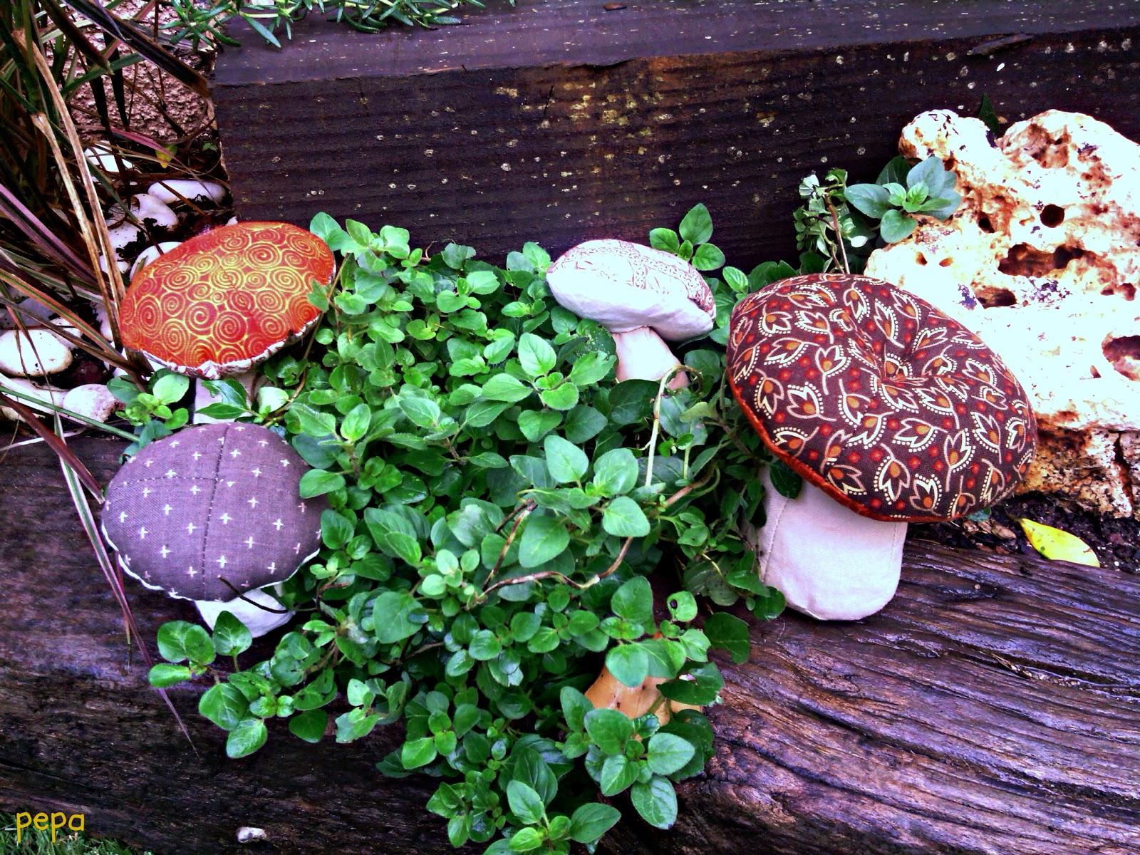 Pepa patchwork setas en mi jardin for Setas jardin
