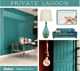 Delux Paint, Private Lagoon, color trend, teal