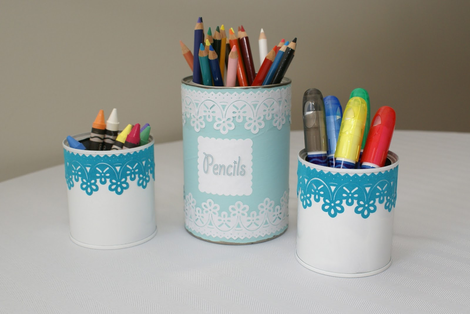the cozy condo decorating cans with scrapbooking