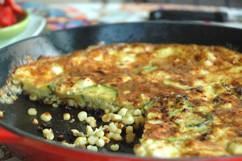 Four and Twenty Blackberries: Spicy Zucchini and Corn Frittata