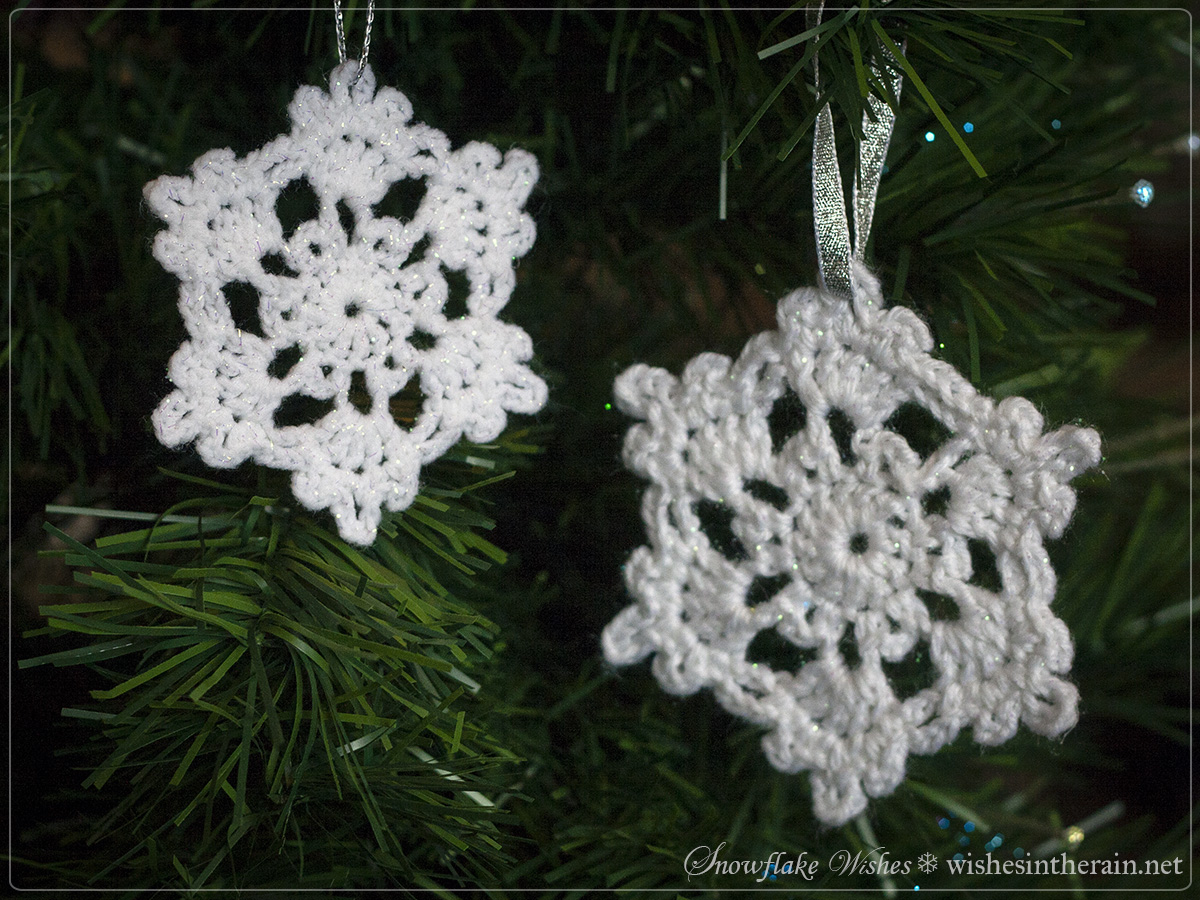 Crochet Snowflake Patterns Free Easy : Free Pattern: Snowflake Wishes 1 wishes in the rain