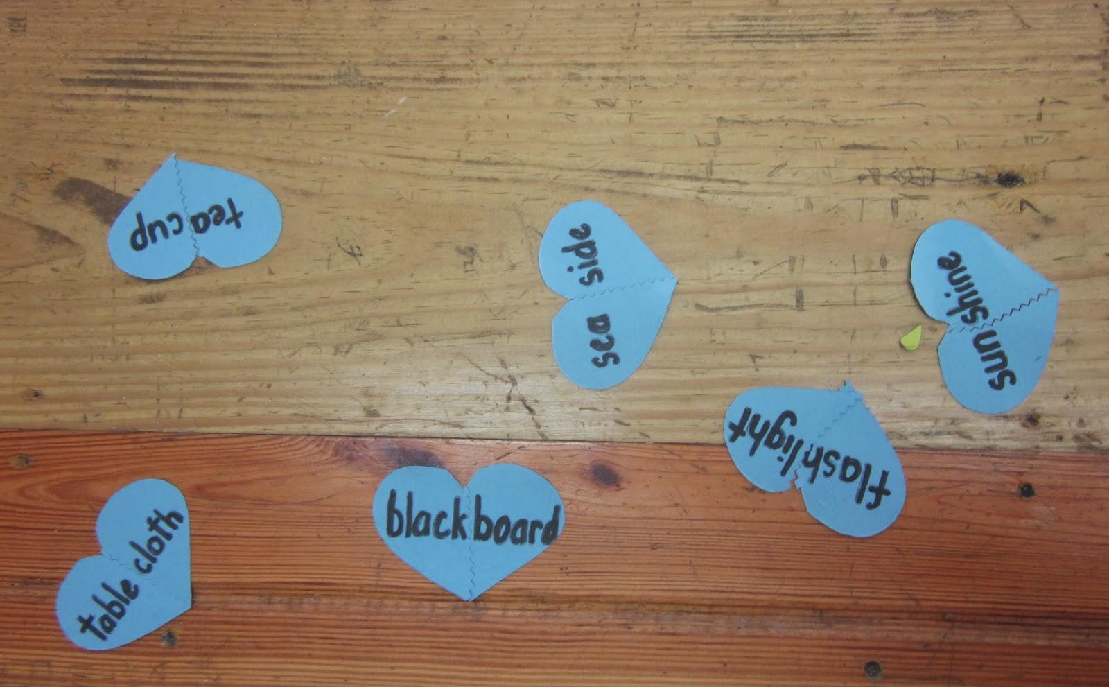 Compound words Valentine's activity