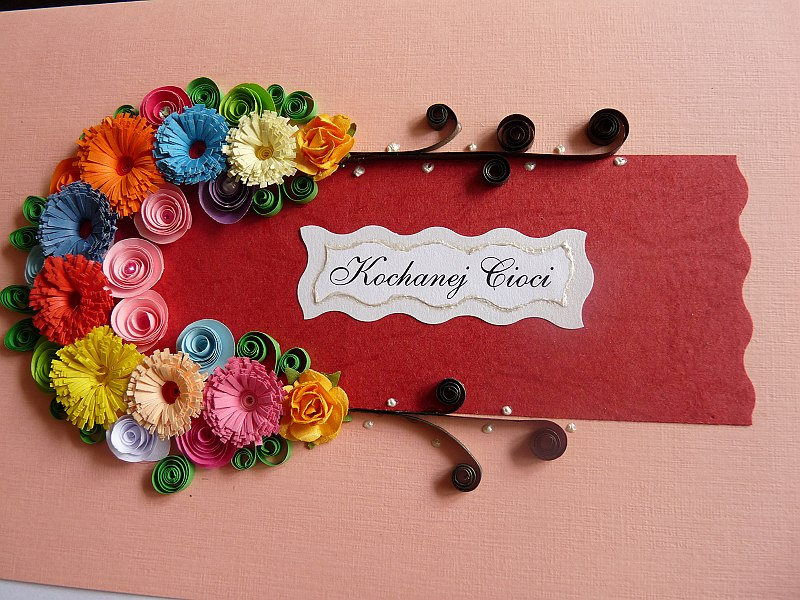 Deco babo quilling kartka for Deco quilling