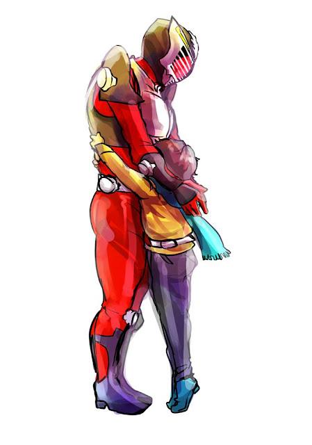 Gambar, Ilustrasi, Kamen Rider, Ksatria Baja Hitam,  Masa Kecil, Kamen Rider Ryuuki