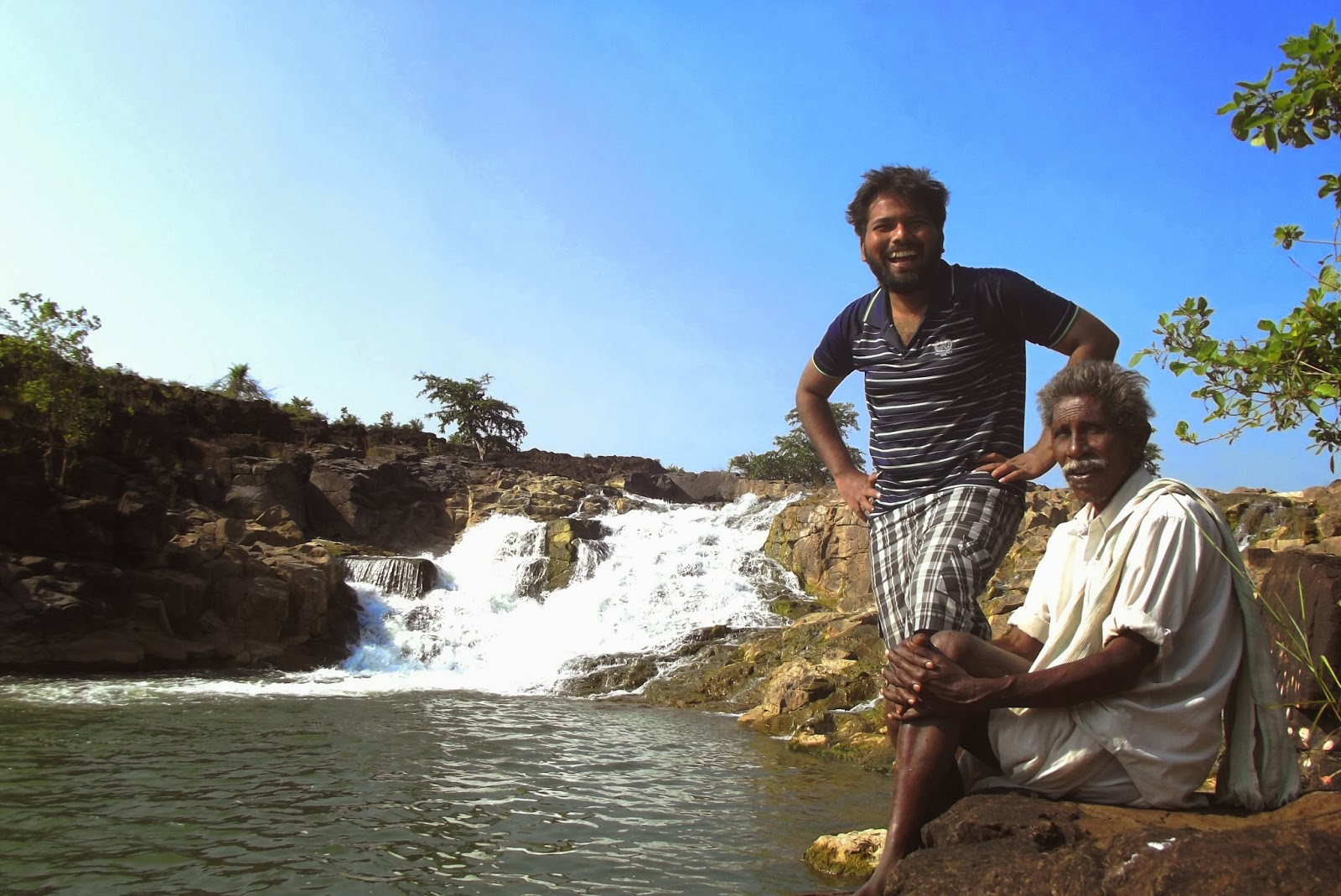 Arif with Rajanna @ Kanakai Waterfalls