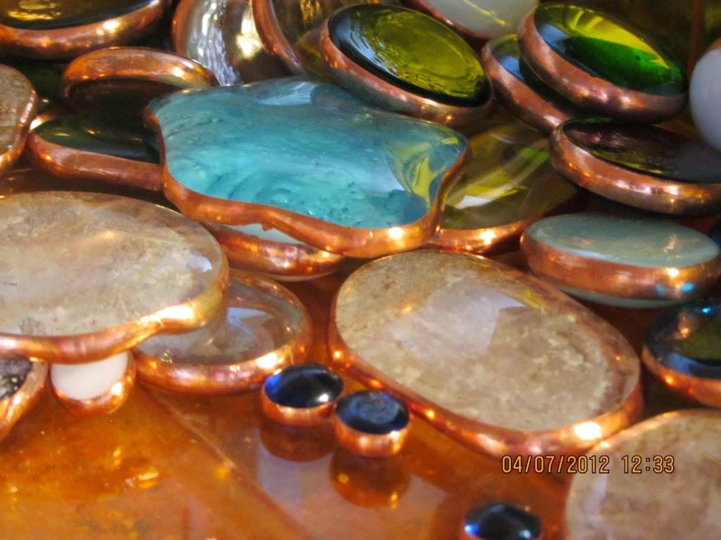 Vidriofundido con cinta de cobre
